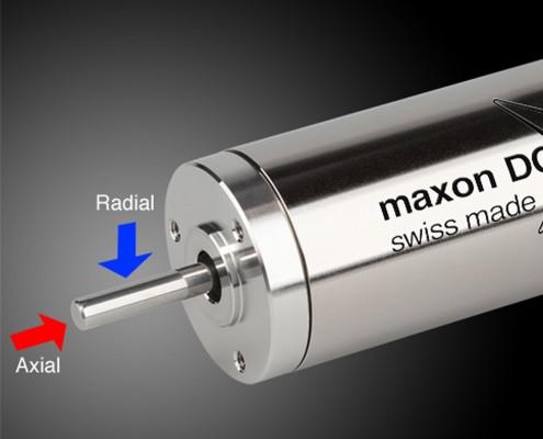 Fuerzas radiales y axiales que afectan al motor eléctrico dc